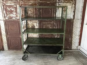 Heavy Duty Metal Shelf Cart - REAL MONKEY 仙台 ~ Vintage & Antiques ~古着屋
