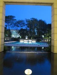 夜のプール@リッツカールトン シンガポール - よく飲むオバチャン☆本日のメニュー