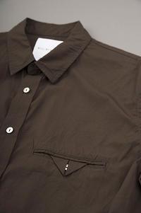 STILL BY HAND  Cotton Broad 6/10 Shirt (Brown) - un.regard.moderne