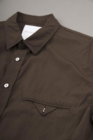 STILL BY HAND  Cotton Broad 6/10 Shirt (Brown) - un.regard.moderne