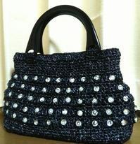 完成!エコアンダリヤ黒のハンドバッグ - Atelier-gekka ハンドメイドのおはなし