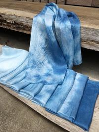 染色〈藍染〉とお知らせ - 『かくや』 つまみ細工のアクセサリー