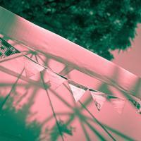 2017年5月30日 街角の抽象画 #2 初夏のテント - Silver Oblivion