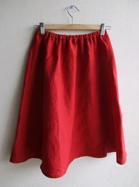 WILDBERRY 赤リネンスカート - ハンドメイドハンドメイドハンドメイド