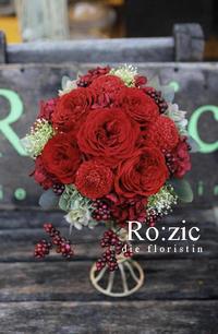 2017.5.27 小さめが愛らしい真っ赤なブーケ/プリザーブドフラワー - Ro:zic die  floristin