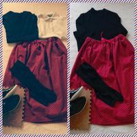 【'50s風】紅白水玉ミモレ丈スカート作りました。【ミニーマウス風】 - Simone's Mundane Life's Record.