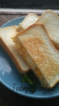 ホットサンドイッチの朝ごパン - 料理研究家ブログ行長万里  日本全国 美味しい話