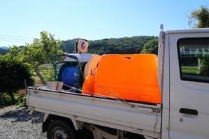 初の動力噴霧器 - 葡萄と田舎時間