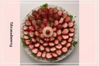 ♪イチゴとアマリリスで癒されています~♪ - 今を楽しく・・・幸せなひととき