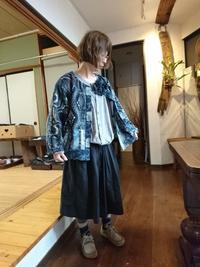 型染め接ぎ合わせジャケット 2 - 古布や麻の葉
