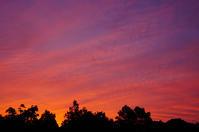 朝焼けr - 雲空海