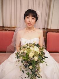 新郎新婦様からのメール ホテルセンチュリー相模大野の花嫁様より ブーケは一人の参列者のように - 一会 ウエディングの花