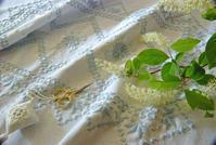 【レッスン参考作品】ハーダンガーのテーブルセンター(3) - 浜松の刺繍教室 l'Atelier de foyu の 日々