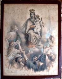 カルメル山の聖母像 リトグラフ フランス     /419 - Glicinia 古道具店