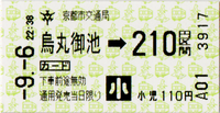 218 烏丸御池駅(←御池)(京都市営地下鉄) - fbox12 blog (博物館fbox12 館長の雑記帳)