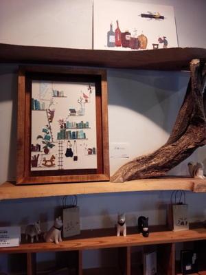 まつやまさとこ「本棚のはなし」終了しました - ギャルリ・ド・ぽえむ本格珈琲とギャラリーの店