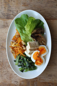 ナムルで野菜盛り - Nasukon Pantry