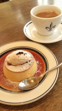 コーヒーハウスニシヤのカスタードプリン - お弁当と春の空