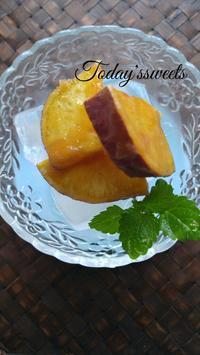 今日のおやつ「冷やし大学芋」 - 料理研究家ブログ行長万里  日本全国 美味しい話
