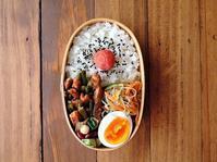 5/30(火)牛肉とニンニクの芽のスタミナ炒め弁当 - おひとりさまの食卓plus