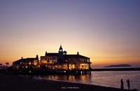 seaside sunset - A  B  C