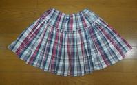 315.チェックのスカート - フリルの子供服