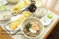 休日の冷たい天ぷら蕎麦御膳ブランチ - おばちゃんとこのフーフー(夫婦)ごはん
