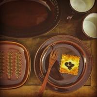 オールドクラフト~飴色のリム皿 - 雑貨店PiPPi