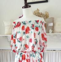 ポピー柄のブラウス&スカート - いつかリリアン・ギッシュのように…手作りお洋服のあとりえ便り