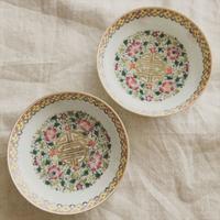 やっぱり中国のお皿が好き!! 粉彩のおめでたい小皿  - おみやげMYラブ ~ブログ版~