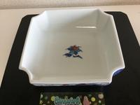 色絵 牡丹梅竹文 角鉢 - 大正から昭和の器