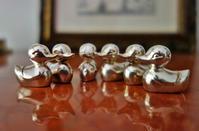 シルバープレート小鴨のカード立て6個セット sold out! - スペイン・バルセロナ・アンティーク gyu's shop