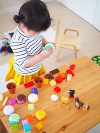 《2歳6ヶ月》レゴデュプロでアイスクリーム作り - ゆりぽんフォト記