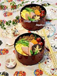 3色そぼろ弁当と今日のわんこ♪ - ☆Happy time☆