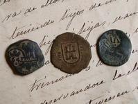 17世紀 貨幣3点 エスクード銅貨 スペインフェリペ2世  /333 - Glicinia 古道具店
