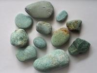 【海で拾った石】海の色の石(1) - azukki的.