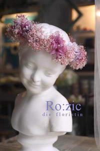 2017.6.2 ピンクのかすみ草とライラック色で シックな花冠/プリザーブドフラワー - Ro:zic die  floristin