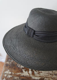 Black panama capline♡ - Maison de Chapeau*Ulala Koroku/メゾンドシャポー・ウララコロク