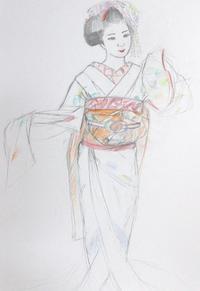 祇園舞妓さん モデル豆珠ちゃん - 黒川雅子のデッサン  BLOG版
