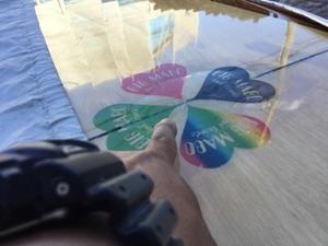 ロングボード ボトム側剥離 修理/リペア - 海ぼうずのエコエゴ日記