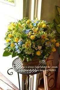 開店のお祝いに♪フラワーアレンジメント。 - 花色~あなたの好きなお花屋さんになりたい~
