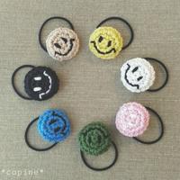 ニコチャンのヘアゴム~麻バージョン~ - *編み物のある生活 tsukurimono*