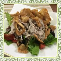 冷しゃぶとヘルシー揚げ餃子のサラダプレート - kajuの■今日のお料理・簡単レシピ■
