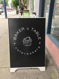 バンクーバーのオシャレカフェシリーズ(Baker and table Cafe)、一押しのメロンパン! - バンクーバー日々是々