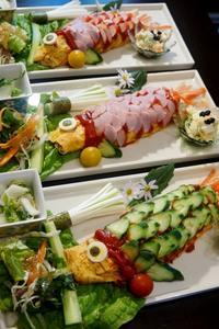 ■5月の連休中のおもてなし朝ご飯【①メインは 爆笑!!鯉のぼりのオムライス】 - 「料理と趣味の部屋」
