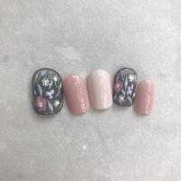 シースルー×お花柄ネイル - 表参道・銀座ネイルサロンtricia BLOG