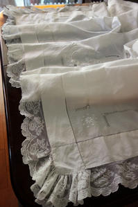 麻アッパーシーツ471 sold out! - スペイン・バルセロナ・アンティーク gyu's shop