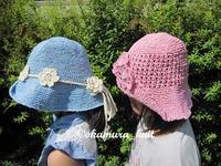 帽子そろうとかわいい☆ - akieの編物教室奮戦記