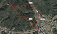 高尾山 三軒屋ルートから川端登山口 - 阿讃の山と谷