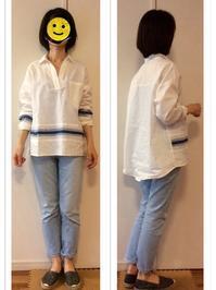 休日 : 白ビックシャツ&デニム - Mirror Mirror...